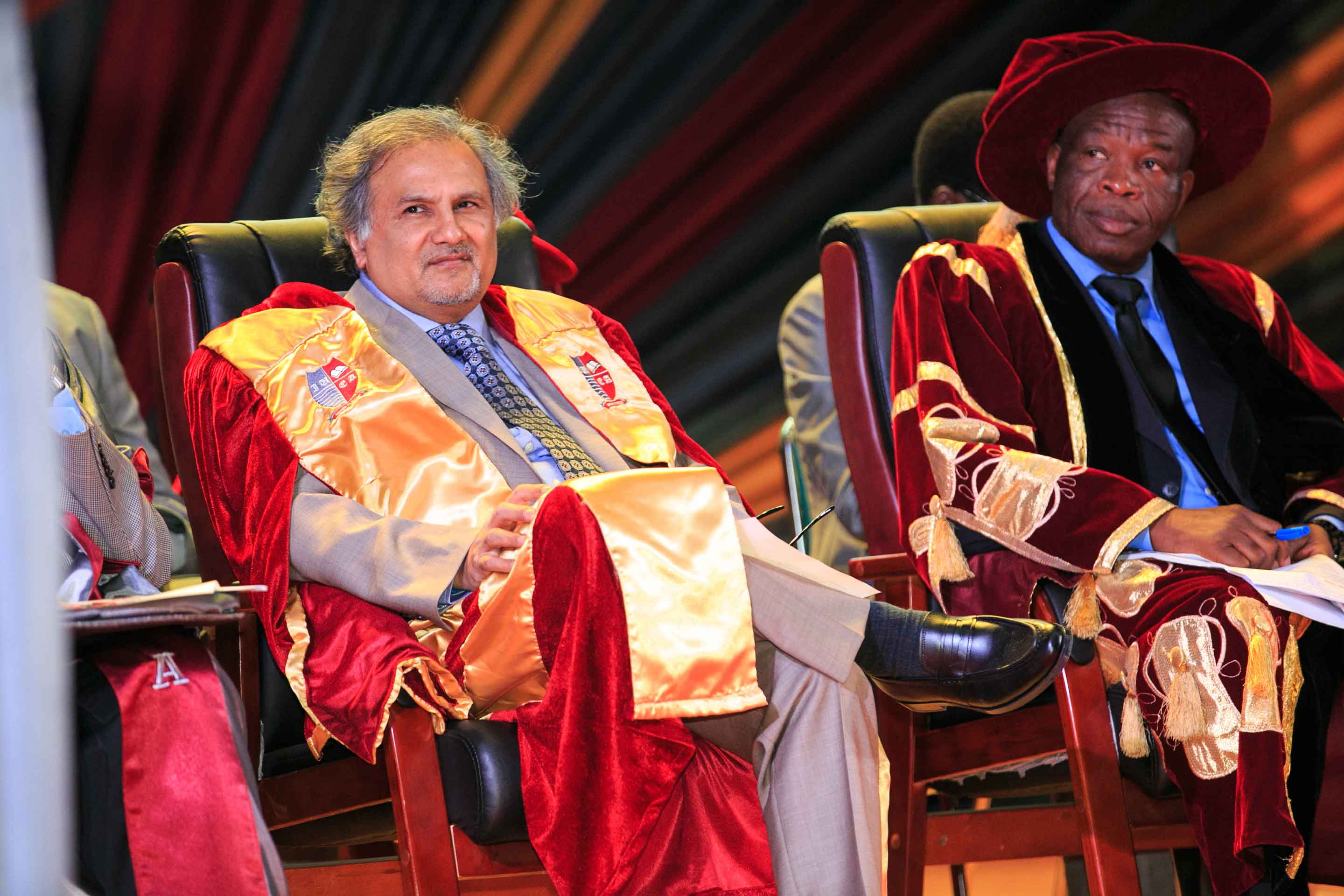 Dr. Sonwalkar at the Commencement Ceremony, IUEA Kampala, Uganda